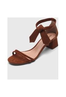 Sandália Dafiti Shoes Amarração Marrom