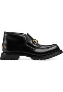 Gucci Leather Ankle Boot - Preto