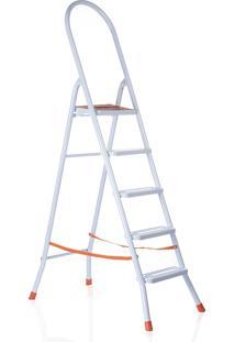 Escada Maxiutil Branco 5Degraus