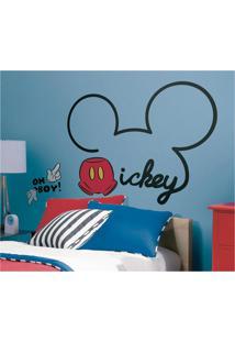 Adesivo Decorativo Tudo Sobre Mickey Gigante Preto Roommates