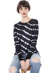 Suéter Desigual Tricot Strass Azul-Marinho
