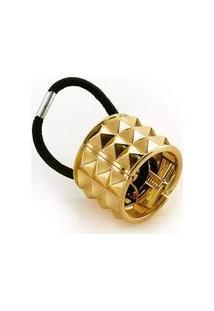 Prendedor De Cabelo Ring Hair Band Spikes Dourado