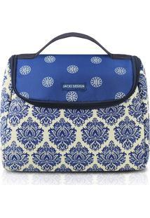 Bolsa Térmica Azul Royal E Branca - Jacki Design