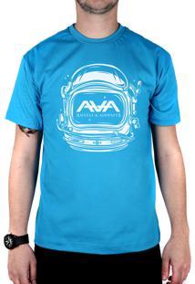 Camiseta 182Life Space Head Turquesa