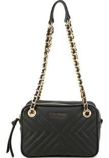Bolsa Couro Carmim Mini Bag Alana Transversal Feminina - Feminino-Preto