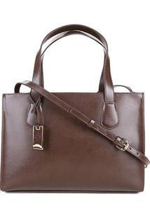 Bolsa Capodarte Handbag Feminina - Feminino-Marrom