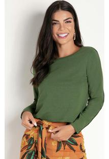 Casaco Verde Com Filete