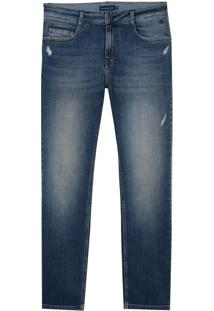 Calça Dudalina Blue Denim Vintage Jeans Masculina (Jeans Medio, 46)