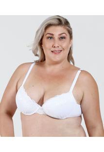 Sutiã Feminino Push Up Renda Plus Size Marisa