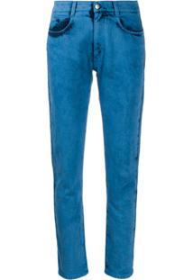 Stella Mccartney Bleached Slim Jeans - Azul