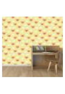 Papel De Parede Adesivo - Raposas - Infantil - Amarelo - 180Ppi