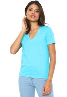 Camiseta Lacoste Logo Azul