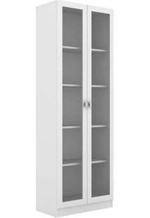 Armário Estante Me4115 2 Portas Com Vidro Branco Tecno Mobili