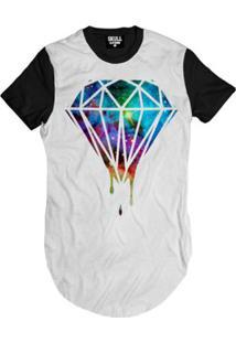Camiseta Longline Diamante Grafite Masculina - Masculino