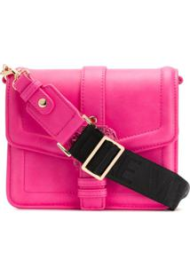 Versace Jeans Couture Buckle-Embellished Crossbody Bag - Rosa