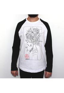 Himawari Head - Camiseta Raglan Manga Longa Masculina