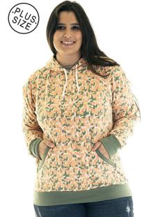 Blusão Konciny Moletom Canguru Plus Size 36520 Laranja - Kanui