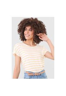 Camiseta Vero Moda Listrada Off-White