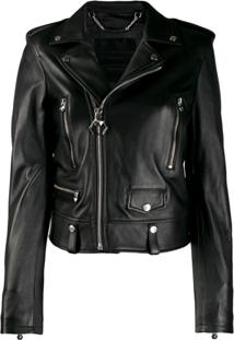 Philipp Plein Slim-Fit Biker Jacket - Preto