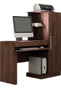 Escrivaninha Office Valdemóveis -Castanho