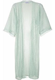 Olympiah Kimono Lamier Rendado - Verde
