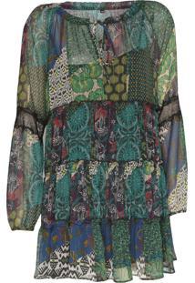 Vestido Desigual Curto Calendre Verde