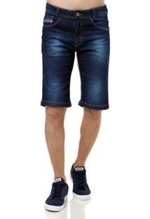 Bermuda Jeans Masculina Golpe Fatal Azul