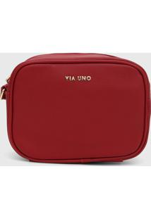 Bolsa Via Uno Logo Vermelha