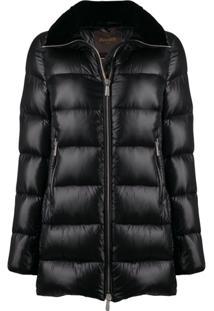 Moorer Hooded Padded Jacket - Preto