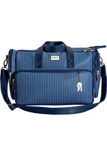 Bolsa Ibiza- Azul & Azul Escuro- 33X48X7Cm- Batibatistela