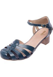 783e60147 Peep Toe Azul Conforto feminino | Shoelover