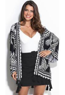 Kimono Borbozebra Preto