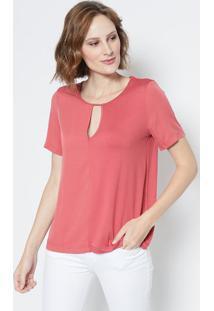 d299fac46 ... Blusa Lisa Com Vazado - Vermelho Escuro - Colccicolcci