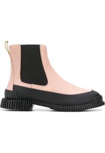 Camper Ankle Boot 'Pix' De Couro - Rosa