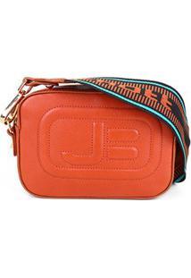 Bolsa Couro Jorge Bischoff Mini Bag New Pápicra Feminina - Feminino-Caramelo