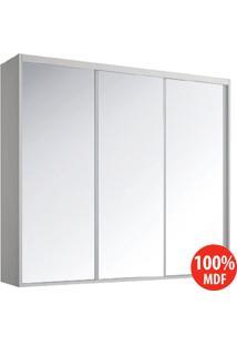 Guarda Roupa 3 Portas De Espelho 100% Mdf 1971E3 Branco Tx - Foscarini