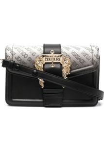 Versace Jeans Couture Gradient Logo-Print Shoulder Bag - Preto
