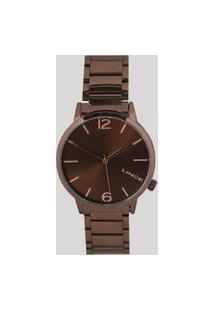 Relógio Analógico Lince Feminino - Lrbj043L N2Nx Marrom