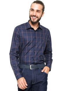 Camisa Aramis Manga Longa Slim Menswear Azul