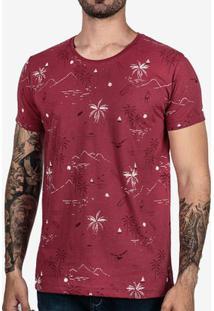 Camiseta Hermoso Compadre Palms Masculina - Masculino-Vinho