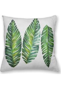 Capa De Almofada Decorativa Own Folhas Verdes 45X45 - Somente Capa