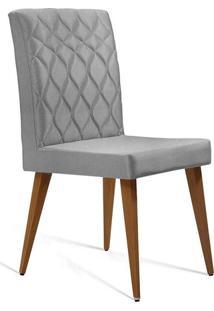 Cadeira De Jantar Edon Linho Cinza