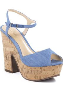 Sandália Meia Pata Com Recortes - Azulschutz