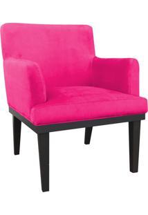 Poltrona Decorativa Vitória Para Sala E Recepção Suede Pink - D'Rossi