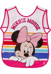 Avental Minnie®- Branco & Rosa- 35X21X0,3Cm- Derdermiwil