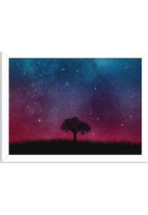 Quadro Decorativo Noite Estrelada Branco - Grande