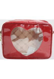 Necessaire Coração Slc Le Postiche Vermelha (Vermelho, Único)