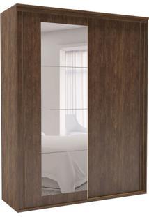 Guarda-Roupa Solteiro Inovatto Com Espelho 3 Pt 3 Gv Marrom