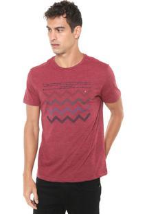 Camiseta Aramis Listrada Zig Zag Vermelha