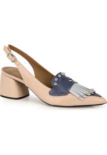 Sapato Scarpin Cesaretti De Couro
